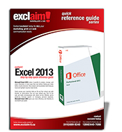 Free Microsoft Excel 2013  Reference Guide