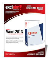 Free Microsoft Word 2013  Reference Guide